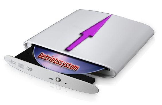 Betriebssystem Installation mit externem DVD-Laufwerk