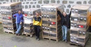 Tag der Auslieferung - 240 PCs auf 4 Europaletten