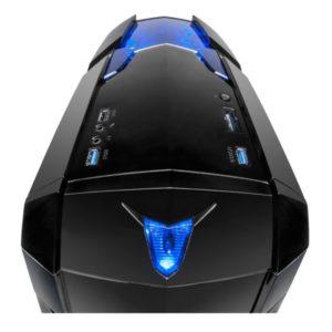 Inter-Tech Q2 Illuminator blue Draufsicht
