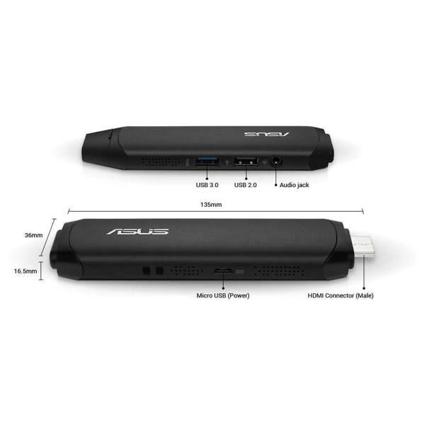 Asus Mini PC – PC on a Stick – Win 10 Anschluesse